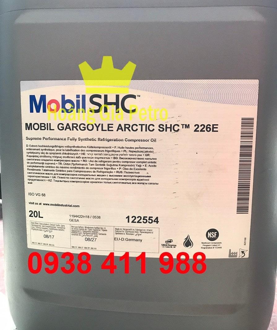 DẦU MÁY NÉN LẠNH MOBIL GARGOYLE ARCTIC SHC 226E 20L