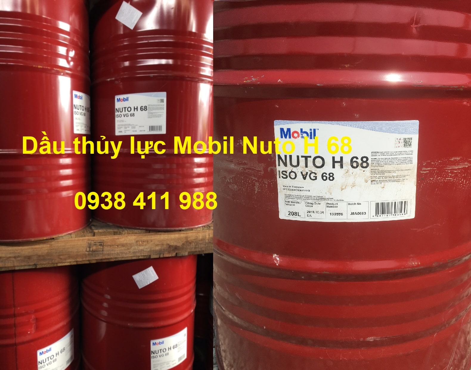 Giá dầu thủy lực Mobil Nuto H 68
